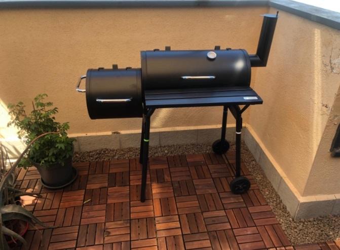 barbacoa ahumador grill carbon vegetal carro parrilla