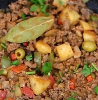 picadillo cubano de carne molida