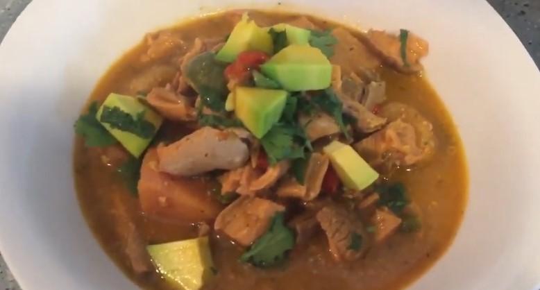 Receta de cuajito con guineos puertorriqueño