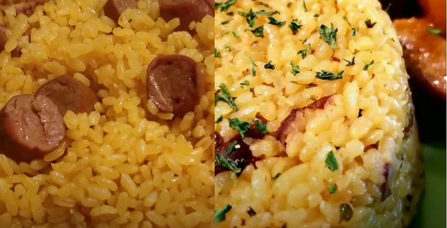 arroz con salchichas boricua