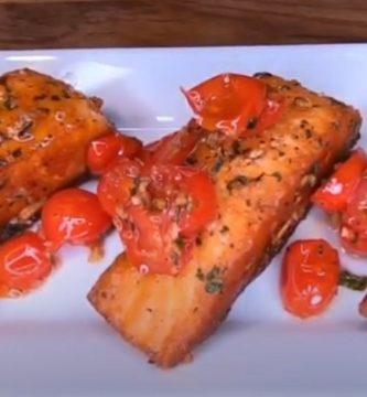 como preparar salmón al ajillo