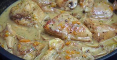 receta de fricase de pollo