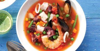 receta de sopa de mariscos costa rica