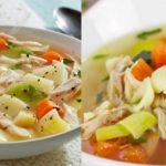 receta de sopa de pollo con verduras